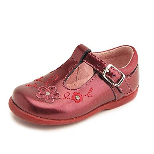 Rite Sunflower Girl 's Berry Patent Erste Walking Schuh Beerenfarben