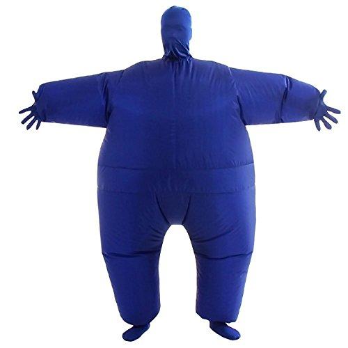 Aufblasbares Kostüm Blau - THEE Aufblasbares Kostüm Japan Sumo für Halloween Karneval Fastnacht Fasching Erwachsene Fett Anzug,Blau