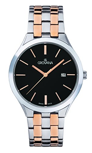GROVANA Unisex-Adult Analogue Classic Quartz Watch with Stainless Steel Strap 2016.1157