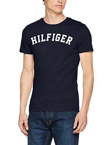 Tommy Hilfiger Herren T-Shirt Ss Tee Logo Blau (Navy Blazer 416)