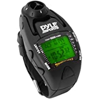 Pyle Sports WaterProof Yacht Timer Sailing Watch with Wind Speed Meter, Barometer and Altimeter Compass - Black
