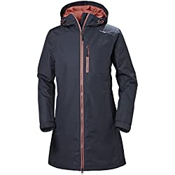 Helly Hansen W Long Belfast Winter Shell Jacket, Mujer, Graphite Blue, S