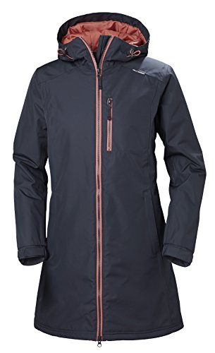 Helly Hansen Damen W Long Belfast Winter Jacke, 995 Graphite Blue, S (Rain Womens Insulated)