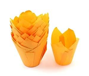 Caissette Papier tulipe 50 Orange Par Turtle Products
