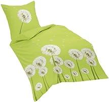 Dream Art Riva 143044 Parure de lit en coton renforcé Vert (15) Housse de couette 240 x 220 cm + 2 taies d'oreiller 80 x 80 cm