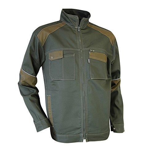 Preisvergleich Produktbild LMA 201601Schraubstock Jacke zweifarbig Stehkragen, khaki/Havanna, 2
