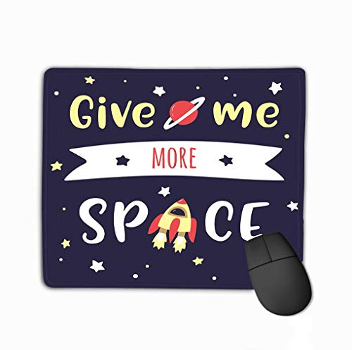 (Mouse Pad Sky Lettering dats More Than Space me calligraphic Text Starry Night Sky Lettering dats Rectangle Rubber Mousepad 11.81 X 9.84 Inch)