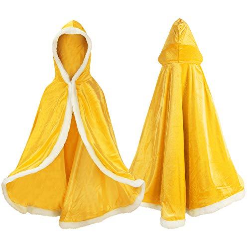 Gold Cape Kostüm - Proumhang Prinzessinnen-Umhang Prinzessinnen-Cape Prinzessin-Kostüm Umhang mit