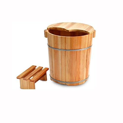 Preisvergleich Produktbild sexy 40cm hohe chinesische Tanne mit Abdeckung verdicken Reflexzonenmassage Wanne waschen die Holzfass Fußbad Fass Fuß Badewanne Begasung Barrel ( Farbe : 1 ,  größe : 37cm*40cm )