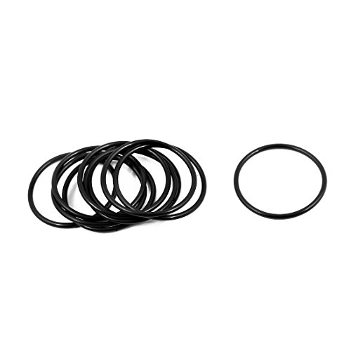 Generic 10 Pcs 27mm x 1.5mm Rubber O-rings NBR Heat Resistant Sealing Ring Grommets