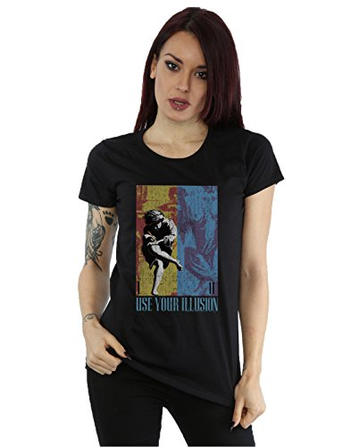 Guns N Roses Damen Double Illusion T-Shirt Schwarz