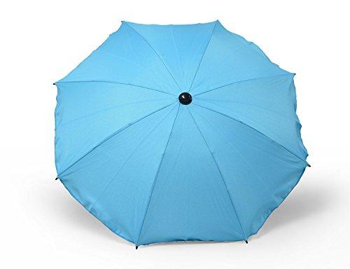 Universal Sonnenschirm Regenschirm für Kinderwagen und Sport Buggy, Babywagen Schirm mit Universal Halterung, UV-Schutz50+ Sonnensegel Sonnenschutz (Türkis)