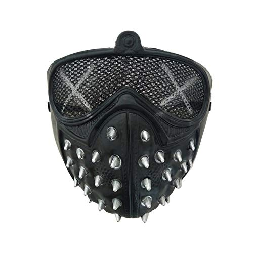 ghfcffdghrdshdfh Halloween Punk Devil Cosplay Anime Stage Mask Ghost Steps Street Masquerade Death Masks Watch Dogs Rivet Party Face Masks