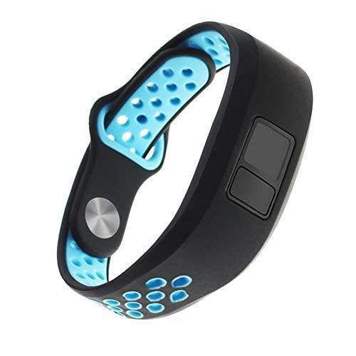 Sunneey Pulsera para Garmin Vivofit 3Vivofit Jr/jr2Smart Watch, Goma Replacement Reloj de Pulsera Sport Band Banda de Repuesto para Inteligente Reloj, Color Azul