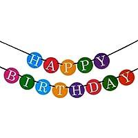 Banner Happy Birthday - Decorazioni per compleanno - Banner per compleanno di alta qualità da Sterling James - Decorazioni per feste di compleanno bambini - Festa Di Compleanno Decorazione Idee