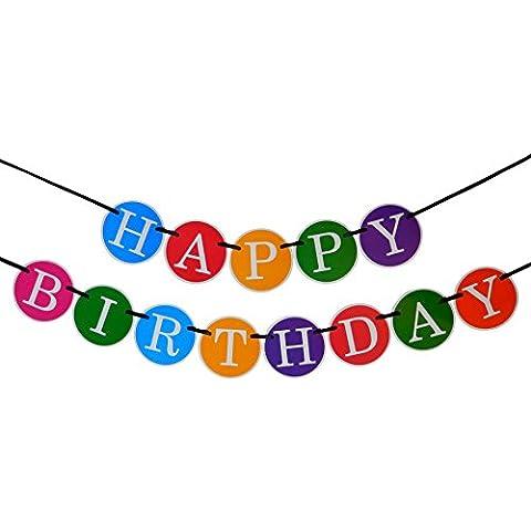 Guirnalda Feliz Cumpleaños – Decoraciones de Cumpleaños – Guirnalda de Cumpleaños de Calidad Superior de Sterling James – Decoraciones de Fiestas de Cumpleaños para