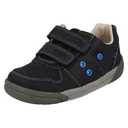 Clarks ,  Jungen Durchgängies Plateau Sandalen mit Keilabsatz , blau - navy - Größe: 26 EU 3E