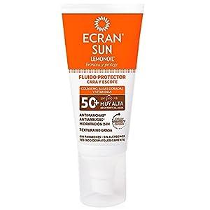 Ecran Sunnique, Fluido Protector Cara y Escote con SPF50+ – 50 ml
