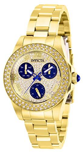Invicta 28478 Angel Women's Wrist Watch stainless steel Quartz Gold Dial