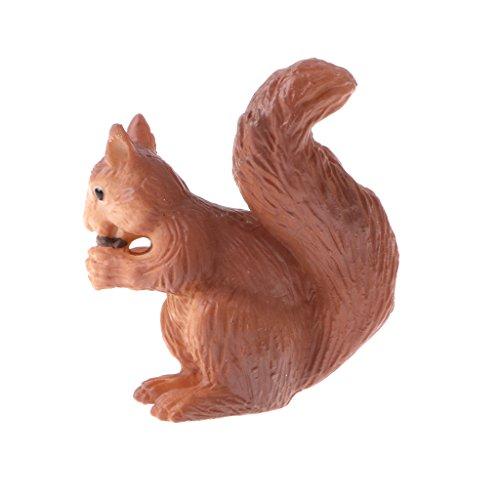Homyl Mini Lebensechte Wildtiere Bauernhof Tier Spielfigur Tiermodell Spielzeug für Kinder Geburtstag Party Dekoration - Eichhörnchen