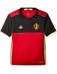 Adidas Maillot de foot pour enfant- Réplique du maillot de l'équipe de Belgique jouant à domicile, UEFA Euro 2016, Enfant, UEFA EURO 2016 Belgien Heimtrikot Replica