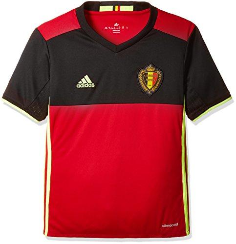 adidas Kinder UEFA Euro 2016 Belgien Heimtrikot Replica, schwarz/rot, 140, AA8743