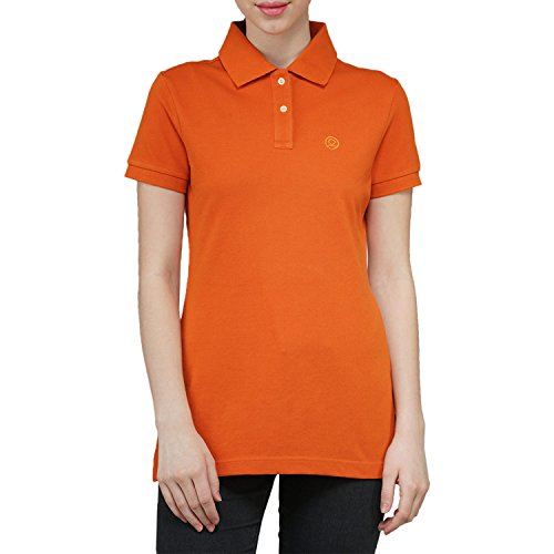 Chkokko Two button Half Sleeves tshirtz Orange Collar Cotton T shirt Regular...