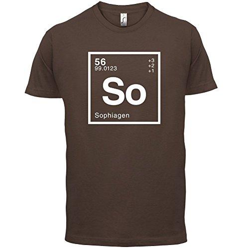 Sophia Periodensystem - Herren T-Shirt - 13 Farben Schokobraun