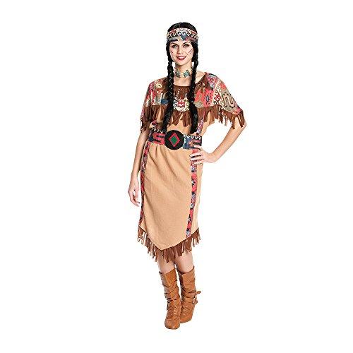 Kostümplanet® Indianerin-Kostüm Damen lang Indianer-Kostüm Wilder Westen Squaw Größe - Kostüm Für Indianer