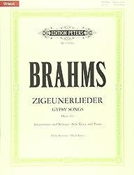 8 Zigeunerlieder aus op. 103 / URTEXT: Hohe Singstimme und Klavier