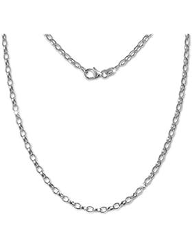 SilberDream Erbskette oval 925er Silber Halskette 50cm Kette SDK20950