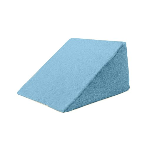 Matching Bedrooms Flex Foam 'Ava' Bed Wedge Support Cushion with Removable Marine Wool Effect Cover