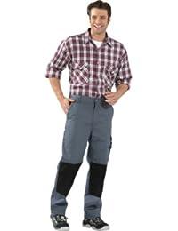 Bundhose Canvas 320 khaki/schwarz , Kleidergröße : 60, Farbe : grau/schwarz