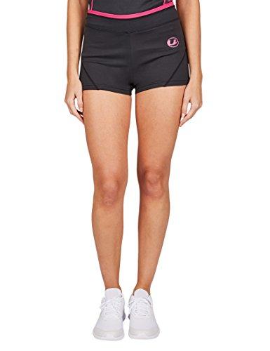 Ultrasport Damen Fitnesshose Short, black/pink, S, 10321