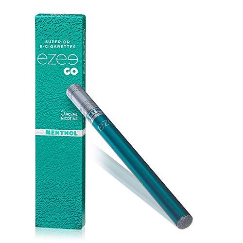 Ezee Go Einweg E-Zigarette Menthol Geschmack Nikotinfrei Elektronische Verdampfer bietet etwa 400 Züge e Shisha 2 Stück