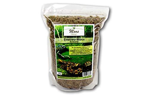 Terrario einstreu de suelos para terrarios auténtica musgo Bosque Decoración para serpentinas Iguana Tortuga ranas suelo sustrato para lluvia Bosque Terrario (100gramos)