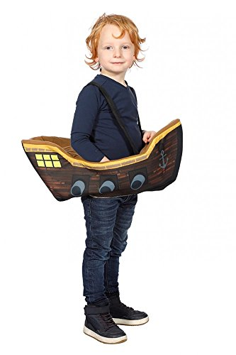 shoperama Kinderkostüm Piratenschiff zum Umschnallen für Mädchen und Jungen Schiff Step-In Kostüm