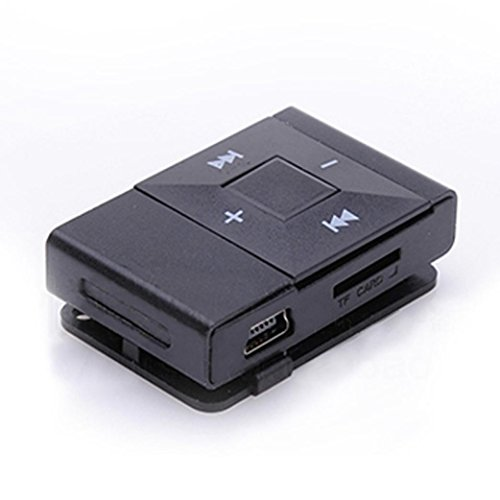 FEITONG Mini USB Clip Digitalen MP3 Player Musik Spieler Unterstützung 8 GB SD TF Karte (Schwarz)