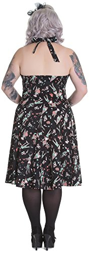 Hell Bunny Kleid ZOMBIE DINER 50'S DRESS 4532 Black