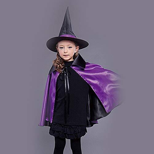 Halloween Cosplay Kostüm Tunika Hooded Robe Kapuzenmantel Cape Medieval Kapuzen-Party-Ausrüstung Erwachsene Und Kinderkleidung,L ()