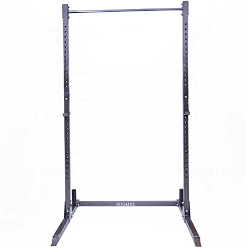 GYM-MASTER-Adjustable-Squat-Rack-Power-Cage-Pull-Up-Bar-Gunmetal