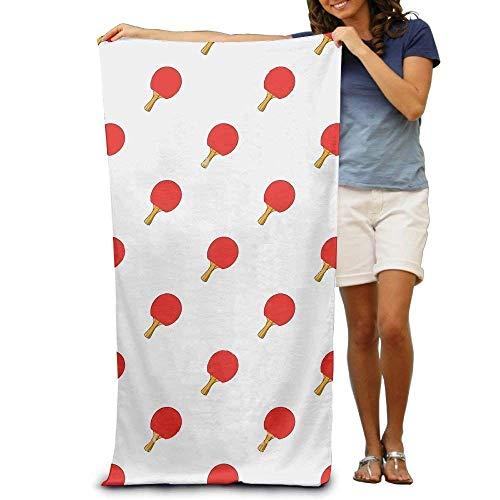 "LINGVYTE Super Absorbent Beach Towel Table Tennis Bat Print Polyester Velvet Beach Towels 31\"" X 51\"" Inch"