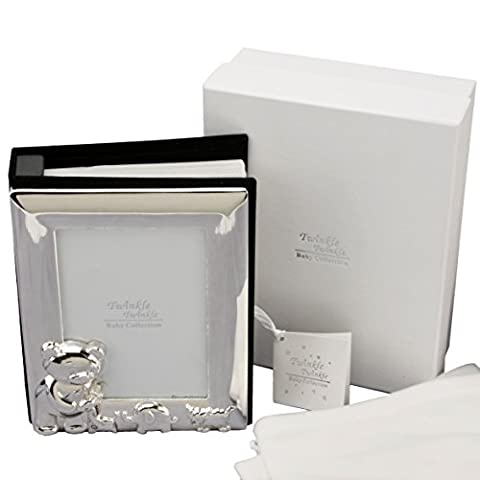 Personalised Silver Plated Photo Album Gift For Christening/Baptism/Naming Day (CG305C)