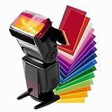 Hilai 12 colori Flash diffusore kit per Canon SPEEDLITE 600EX 580EX II 430EX 320EX 270EX