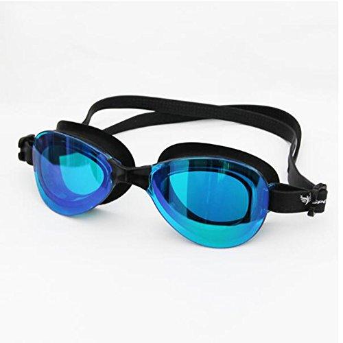 Sunny Honey Schwimmen-Schutzbrillen-Bunte Überzug bequem mit Anti-Fog-Objektiven, Ultra-hohe Qualitäts-Schwimmen-Schutzbrille für Erwachsene Jugendlich-Mann-Frauen (Farbe : Gem Blue)