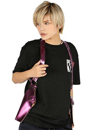 Halloween Schulter Gewehr Halfter Mörder Shoulder Gun Holster Kostüm Props Cosplay Lila PU Bekleidung Zubehör (Kostüm Gun Holster)