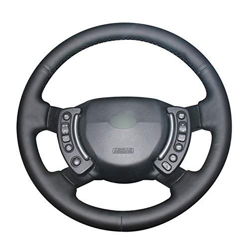 Preisvergleich Produktbild PSTPPZ Handgenähtes DIY-schwarzes PU-Kunstleder-Auto-Lenkradbezug,  für Land Range Rover 2003-2012