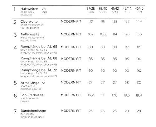 Eterna - Modern Fit - Herren Langarm Hemd mit Kent Kragen, Bügelfrei (8464 X14P) Blau (19)