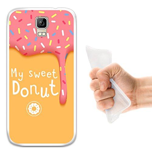WoowCase Umi Rome Hülle, Handyhülle Silikon für [ Umi Rome ] My Sweet Donut Handytasche Handy Cover Case Schutzhülle Flexible TPU - Transparent