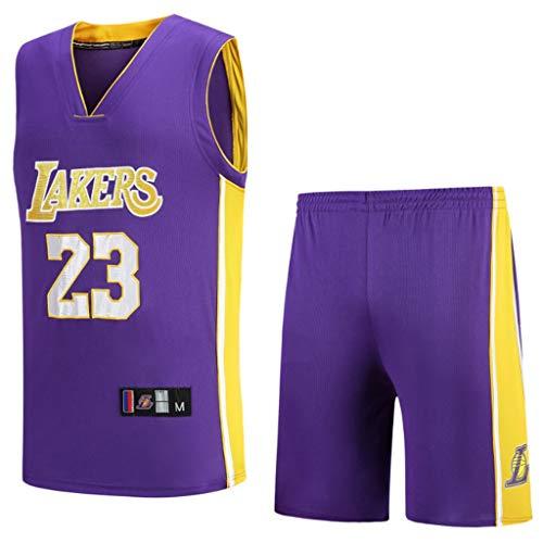HANGESS Boy Herren Lebron James Mesh # 23 Basketball Shorts Sommer Trikots Basketball Uniform Top & Short
